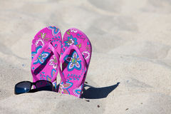 A pair pink colored Flip-Flops Royalty Free Stock Image