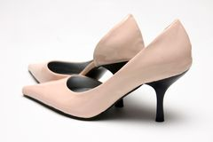 Pair of Pink High Shoes Royalty Free Stock Image