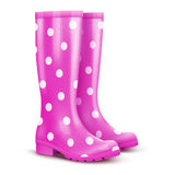 Pair of pink rain boots Stock Photography