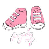 A pair of pink shoes Stock Image