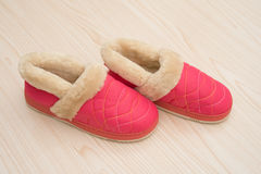 Pair of pink shoes for lady Stock Photography