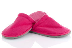 A pair of pink slippers Royalty Free Stock Photo