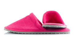 A pair of pink slippers Royalty Free Stock Photography