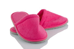 A pair of pink slippers Royalty Free Stock Images