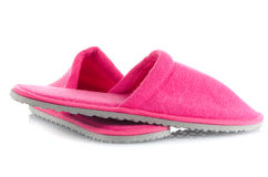 A pair of pink slippers Royalty Free Stock Photos