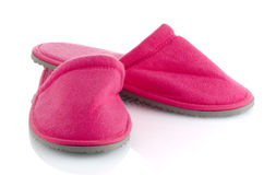 A pair of pink slippers Stock Photos