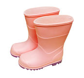Pair of isolated pink wellies Royalty Free Stock Images