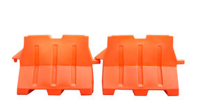 Pair of plastic barriers Royalty Free Stock Photo