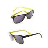 Pair of plastic sunglasses isolated Royalty Free Stock Photography
