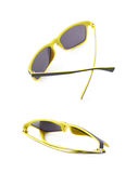 Pair of plastic sunglasses isolated Royalty Free Stock Images