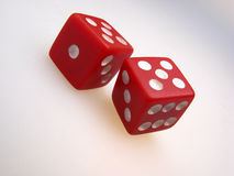 Pair of playing dice stock photo