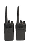 Pair of portable radio sets Royalty Free Stock Photos