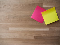 A Pair of Post Its royalty free stock image