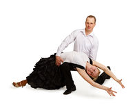 A pair of professional dancers Stock Photography