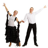 Pair of professional dancers finished dancing Stock Photography