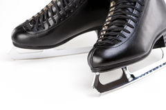 Pair of Professional Male Figure Skates Together. Over White Bac Royalty Free Stock Photography