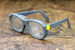 Pair of protective eyeglasses Stock Photo
