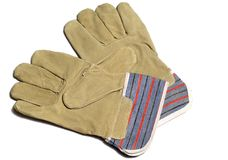 Pair of protective gloves Stock Photos