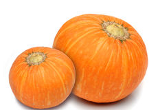 Pair of pumpkin isolated Stock Photo