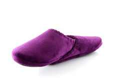 Pair of purple slippers Stock Image