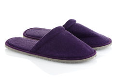 A pair of purple slippers Stock Images