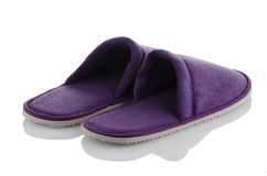 A pair of purple slippers Royalty Free Stock Image