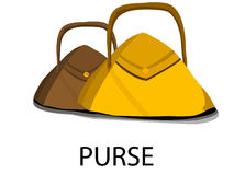Pair of purse. On isolated background Royalty Free Stock Photos