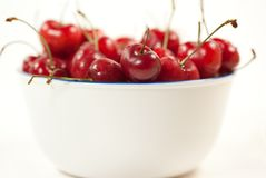 Pair of real heart shaped  cherries Royalty Free Stock Image