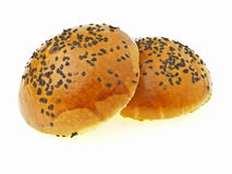 Pair of red bean bun Stock Image