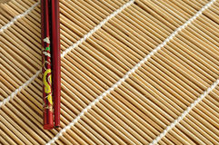 A pair of red chopsticks Royalty Free Stock Image