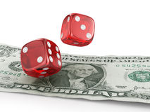 Pair of red dice Stock Photography