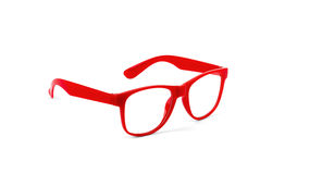Pair of red eyeglasses Stock Photography