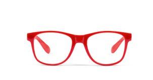 Pair of red eyeglasses Royalty Free Stock Photo