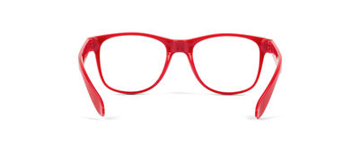Pair of red eyeglasses Royalty Free Stock Image