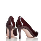 Pair of red female high heel shoes Royalty Free Stock Photos