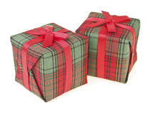 Pair Red Gift Box Stock Photo
