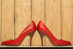 Pair of red high heels Stock Photography