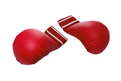 Pair of red kickboxing gloves Royalty Free Stock Photo