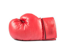 Pair of red leather boxing gloves  Royalty Free Stock Images