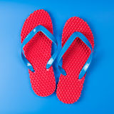 Pair of red sandals Stock Photography