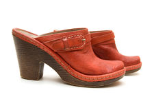 Pair of red shoes royalty free stock photography
