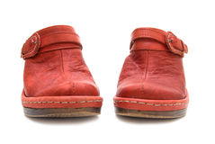 Pair of red shoes royalty free stock photos
