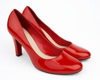 Pair red shoes Stock Image