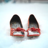 Pair Of Red Shoes Stock Photo