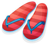 A pair of red slippers Stock Images