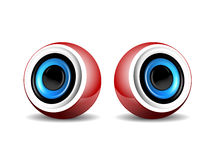 Pair of  red speakers Royalty Free Stock Photo