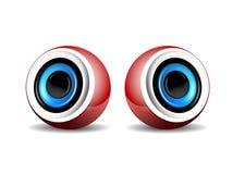 Pair of  red speakers. Pair of speakers Vector Illustration Royalty Free Stock Photo