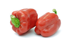 Pair of red sweet Paprica Stock Photo