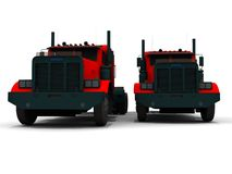 Pair of Red trucks Royalty Free Stock Photos