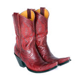 Pair of Red Western Boots Stock Image